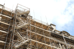 building scaffolding image